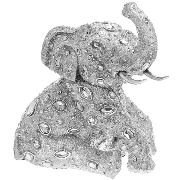SILVER ART DIAMANTE ELEPHANT