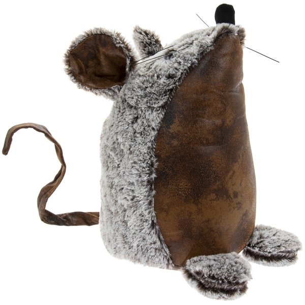 FAUX LEATHER MOUSE DOORSTOP