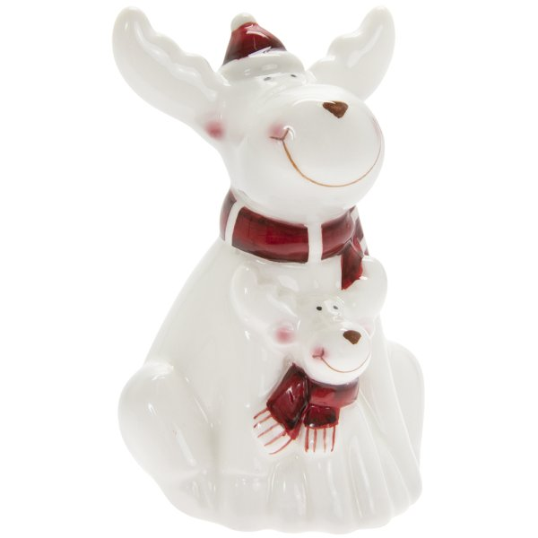 REINDEER WHITE & RED SML