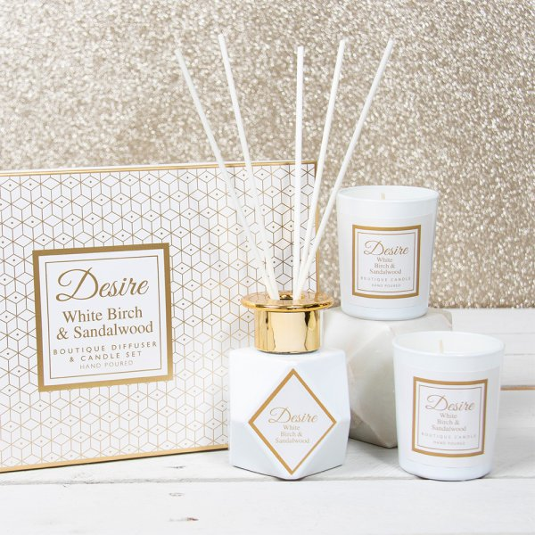DIFFUSER&CANDLE SET 100ML WHT