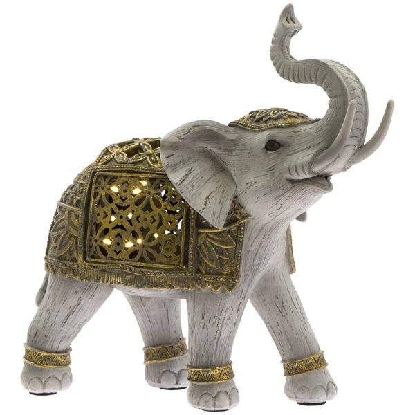 LED GOLD ELEPHANT MED