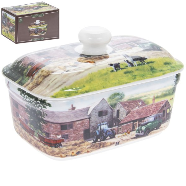 FARMYARD BUTTER DISH
