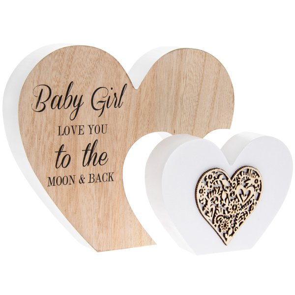 SENTIMENTS DBL HEART BABYGRL P