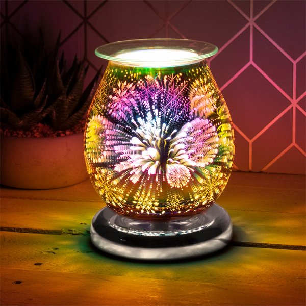 3D SILVER SNOWFLAKE AROMA LAMP