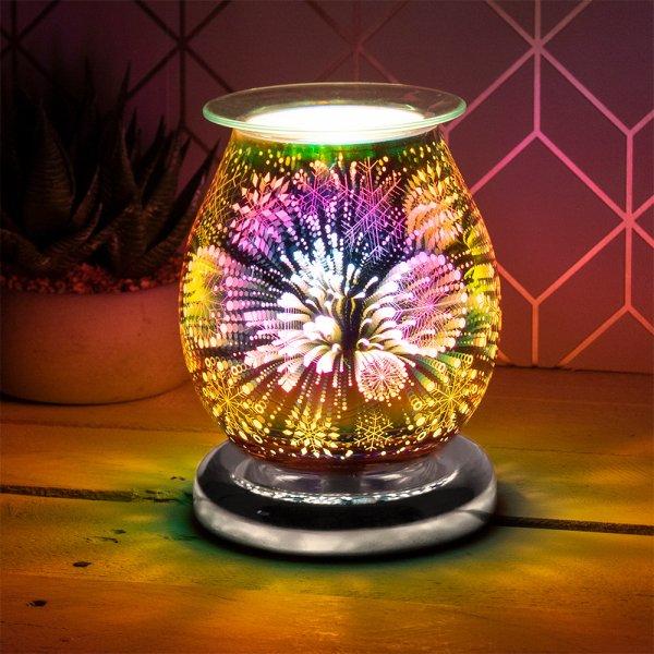 3D SILVER SNOWFLAKE AROMA LAMP