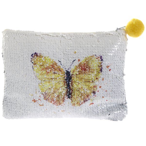 BUTTERFLY SEQUIN PURSE