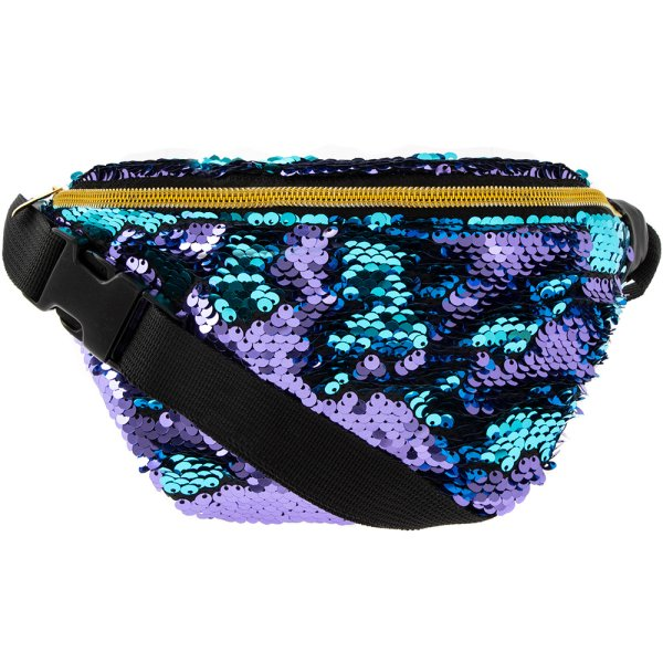 SEQUIN BUMBAG TURQ & PURPLE