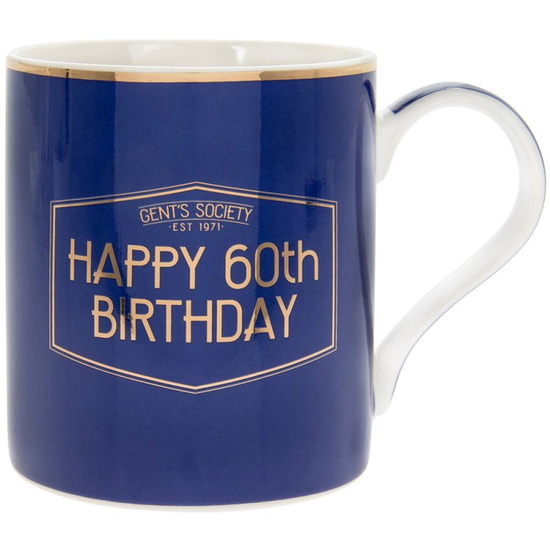 GENT'S SOCIETY HAPPY 60TH MUG