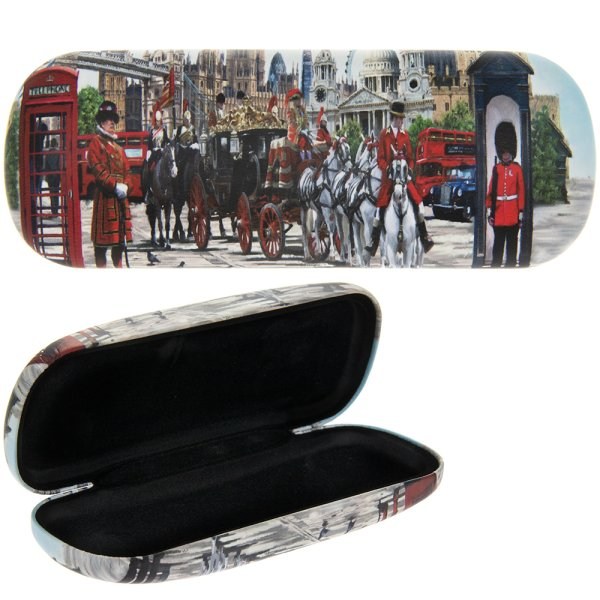 LONDON COLLAGE GLASSES CASE