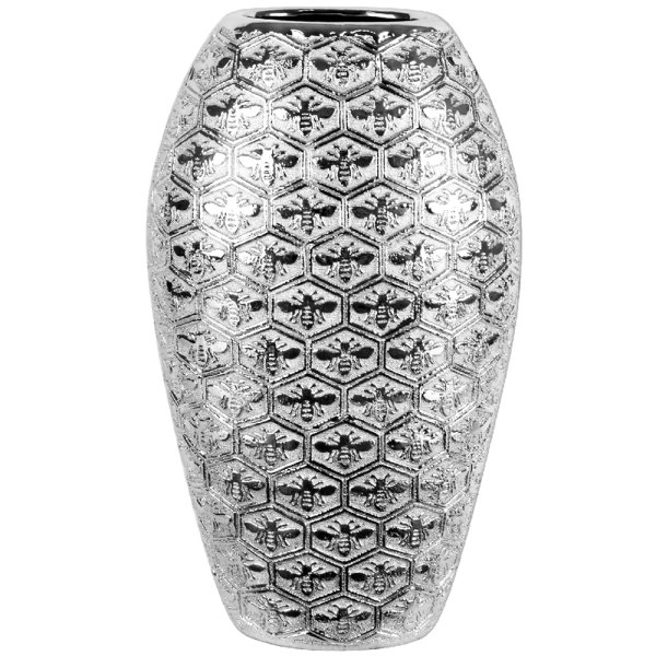 SILVER ART BEES VASE