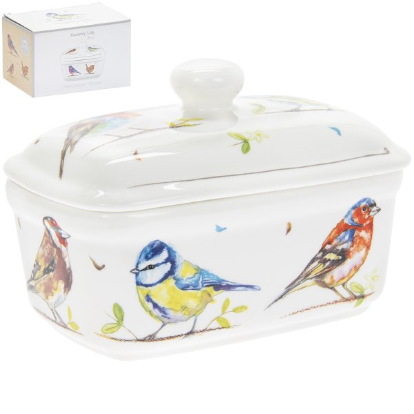 COUNTRY LIFE BIRDS BUTTER DISH