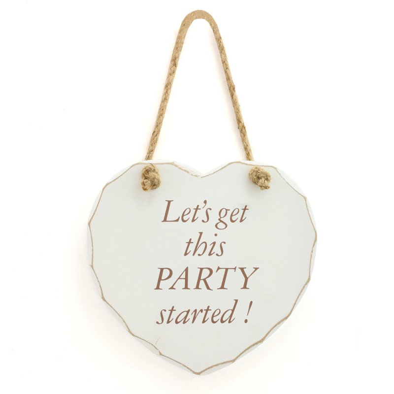 GET THIS PARTY STARTED PLAQUE