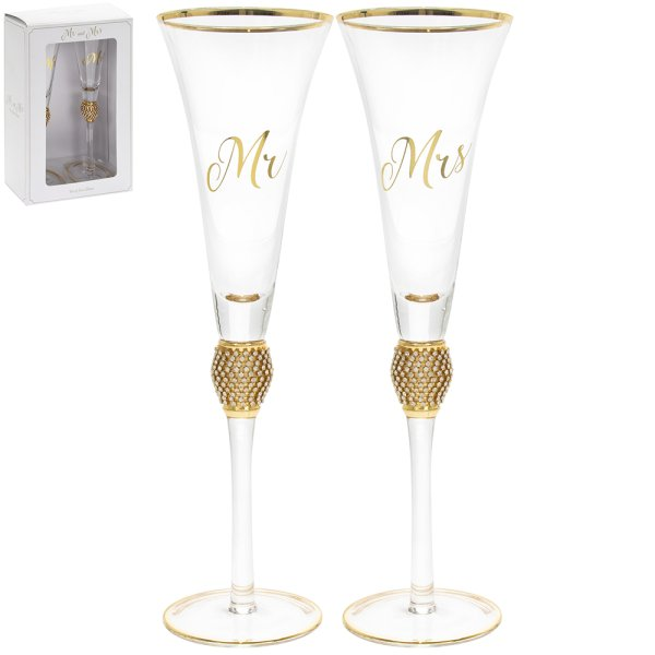 MR&MRS DIAMANTE FLUTES GOLD