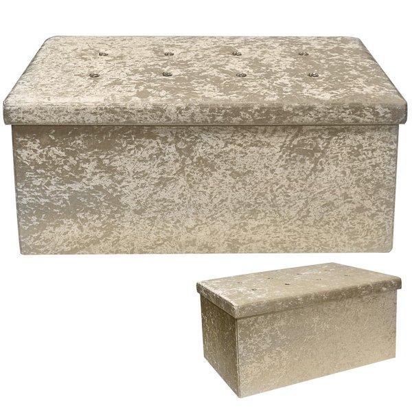 CHAMPAGNE VELVET FOLDING BOX