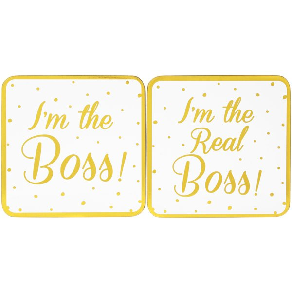 BOSS & REALBOSS COASTERS 2 SET