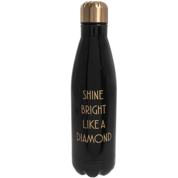 SHINE BRIGHT FLASK BLACK