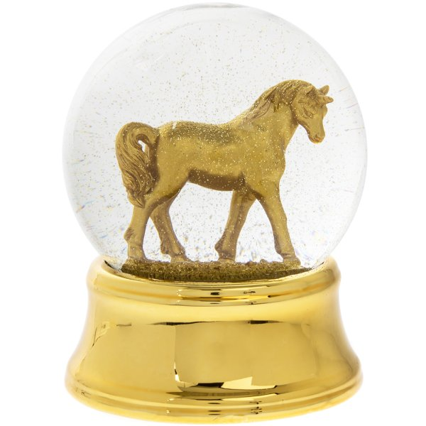GOLD UNICORN WATERBALL LED