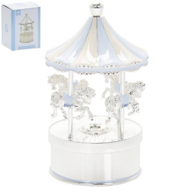 S/P MUSICAL CAROUSEL BLUE