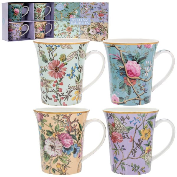 WILLIAM KILBURN MUGS SET OF 4