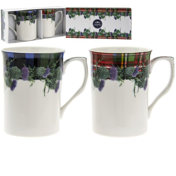 TARTAN MUGS SET OF 2