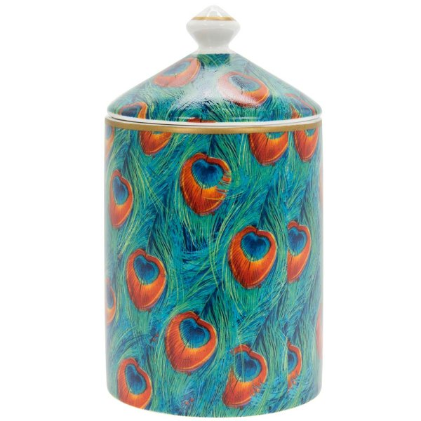 PEACOCK CANDLE JAR