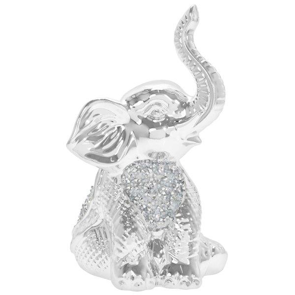 SILVER SPARKLE ELEPHANT