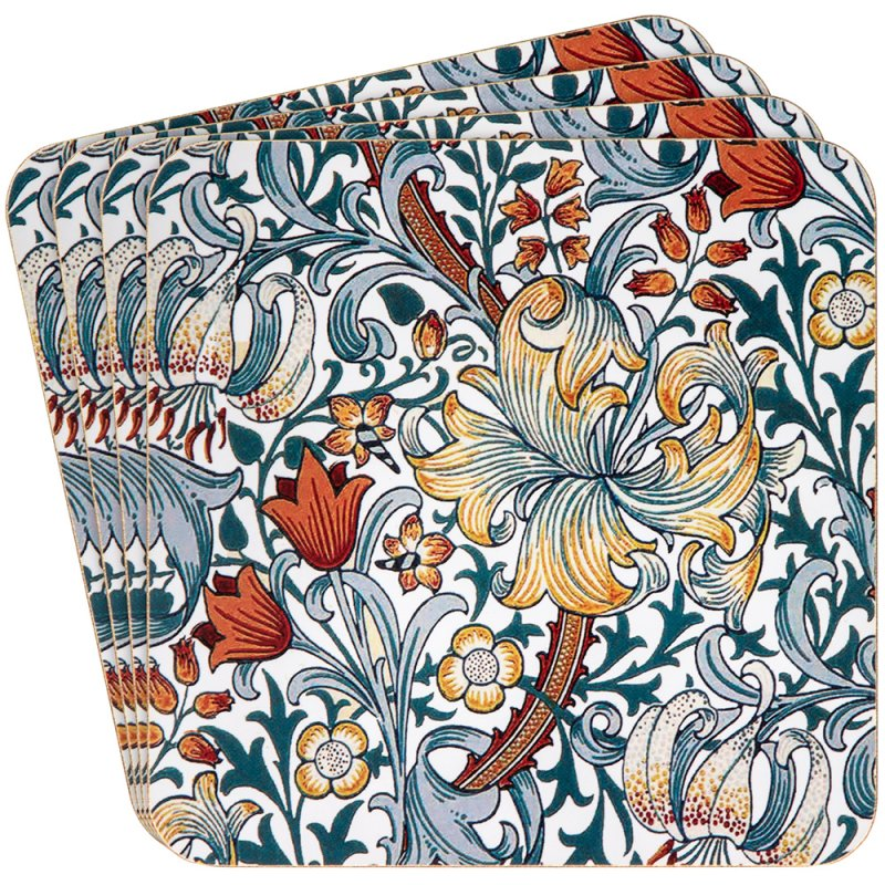 GOLDEN LILY COASTERS 4 SET