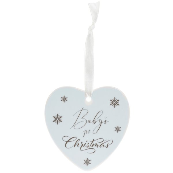 BABY'S 1ST XMAS PLAQUE BLUE