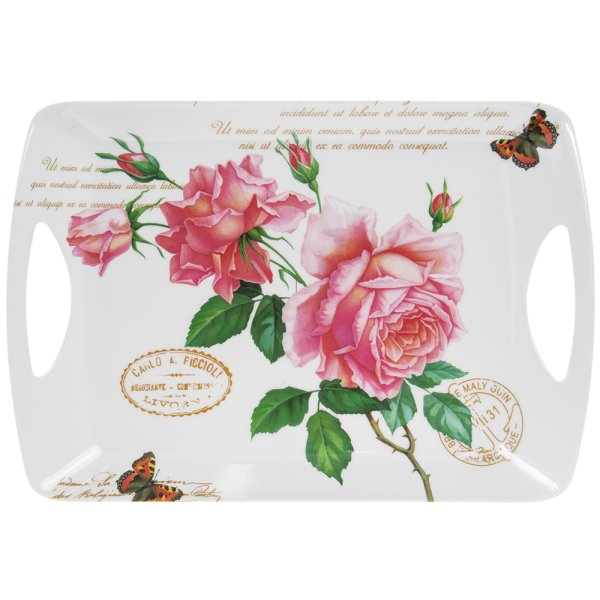 REDOUTE ROSE TRAY LGE