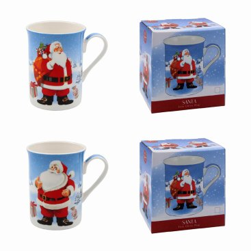 CHRISTMAS JOLLY XMAS MUGS
