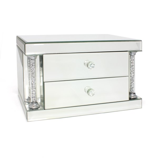 MIRROR JEWELLERY BOX 2 DRAWER