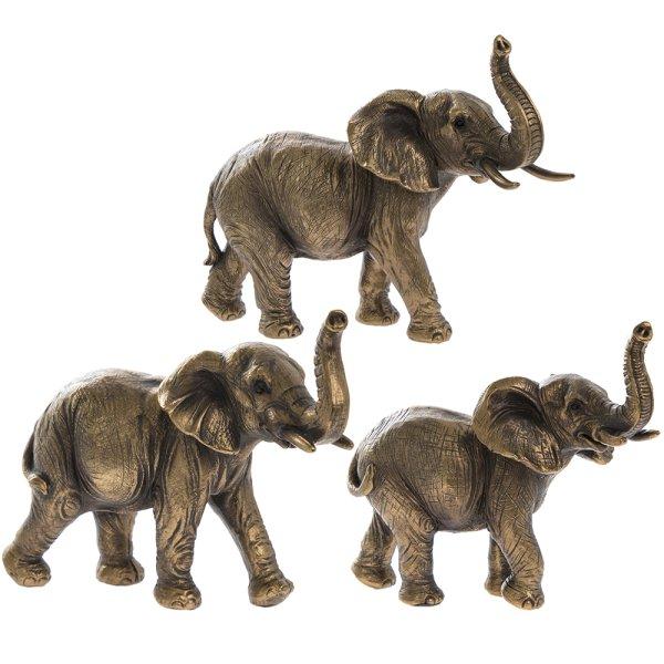 REFLECTIONS BRNZD ELEPHANT FAM