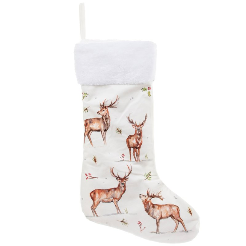 WINTER STAGS LED STOCKING
