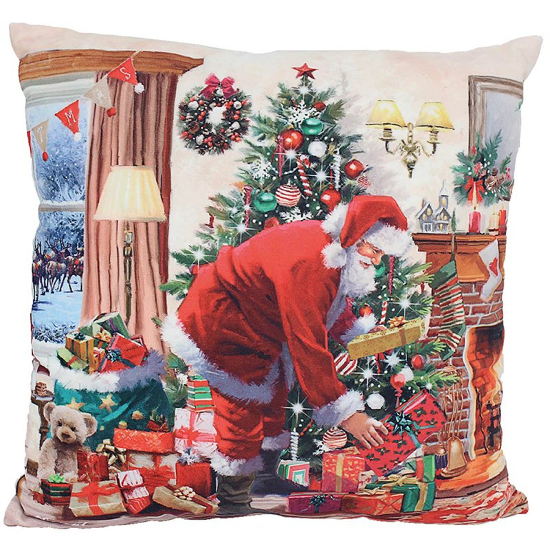 SANTA LED CUSHION