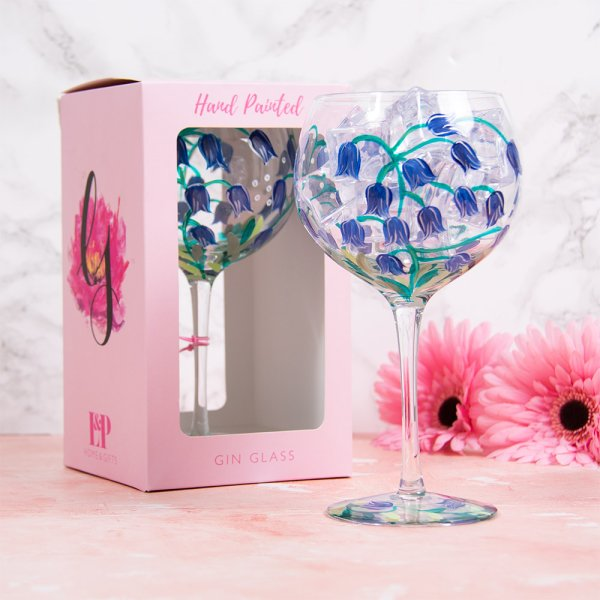 BLUE BELLS GIN GLASS