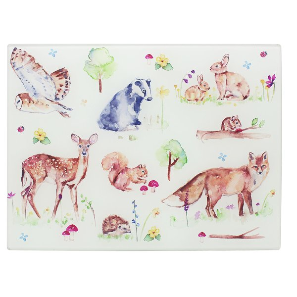 WOODLAND WILDLIFE CUTTINGBOARD