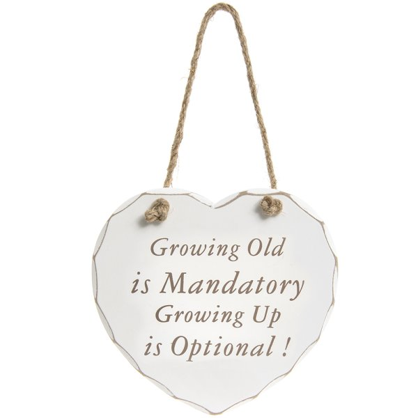 GROWING UP IS OPTIONAL PLAQUE