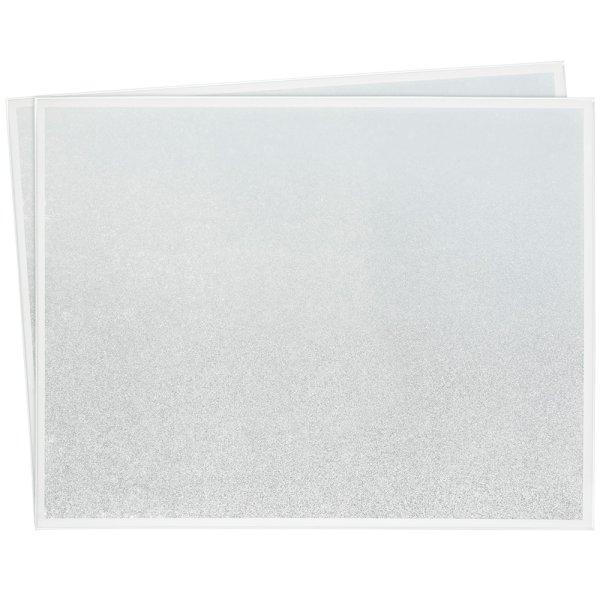 WHITE & SILV GLIT PLACEMATS S2