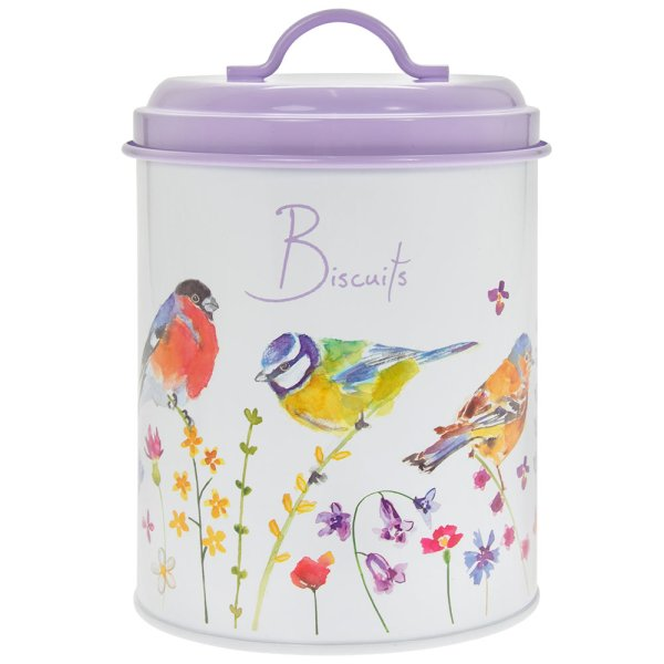 GARDEN BIRDS BISCUITS CANISTER
