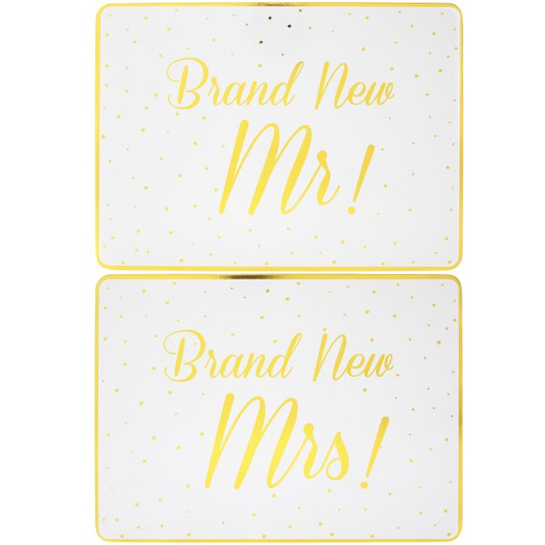 BRANDNEW MR&MRS PLACEMATS 2SET
