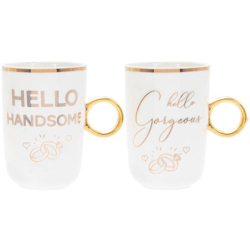 GORG & HANDSOME RING MUGS 2S