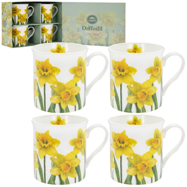 DAFFODIL MUGS 4 SET