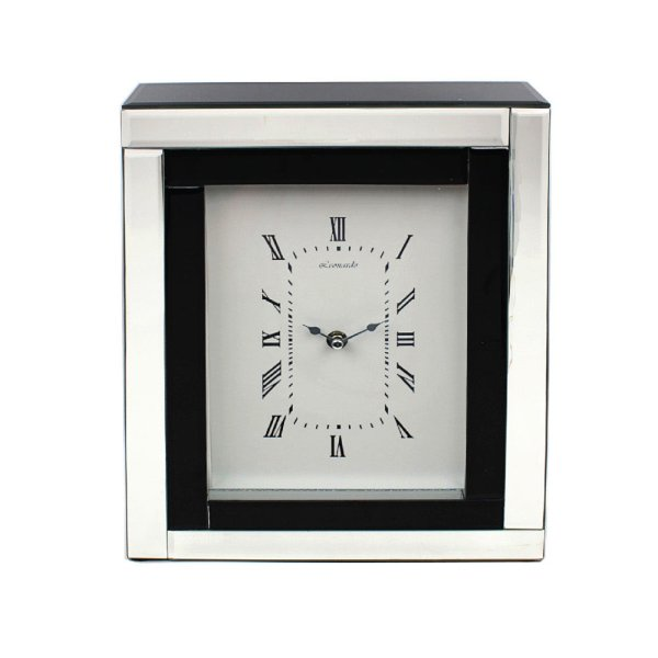 MIRROR BLACK CLOCK