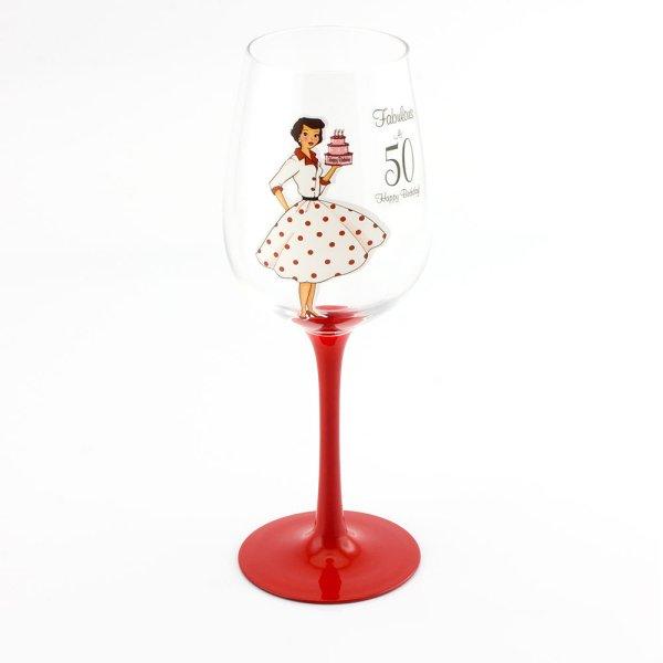 MRS SMITH  50TH WINE GLASS