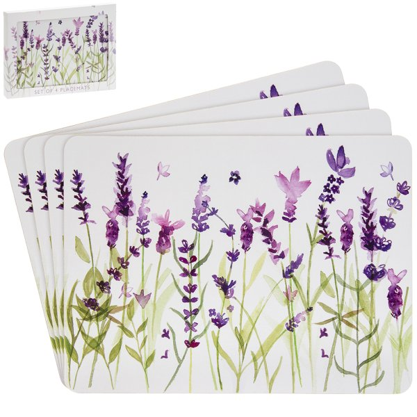 LAVENDER PLACEMATS SET OF 4
