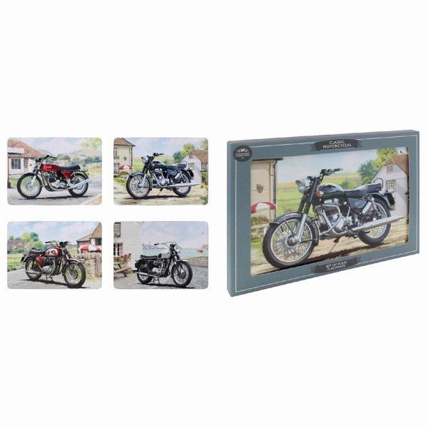 CLASSIC MOTORBIKE PLACEMATS S4