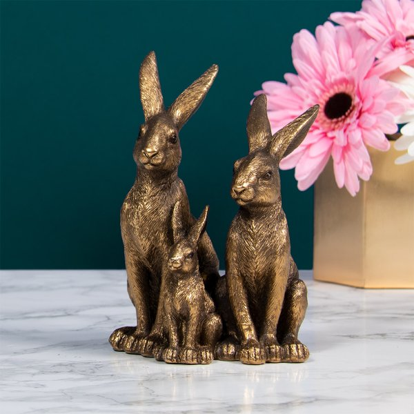 REFLECTIONS BRONZED HARES&BABY