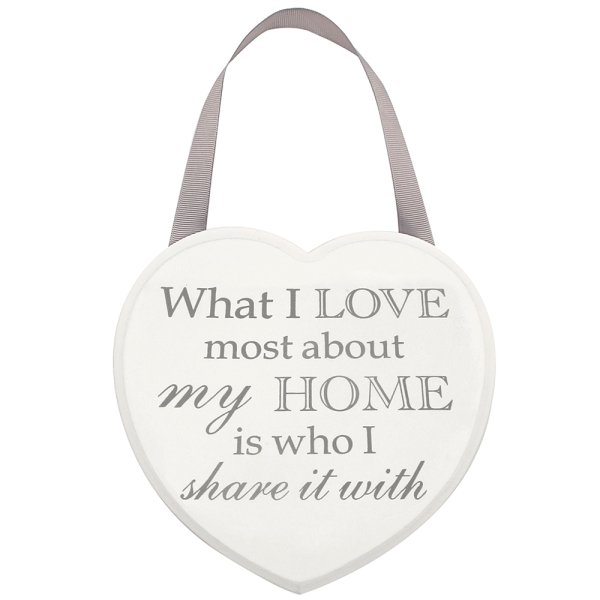 HEART PLAQUE HOME