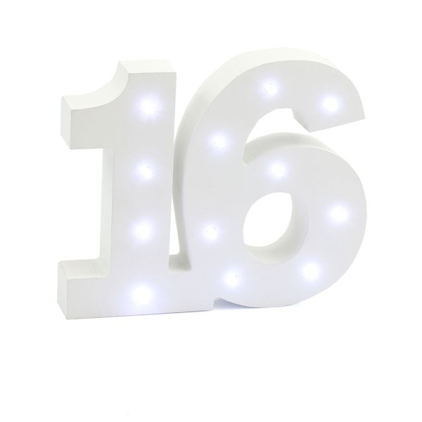 LED LIGHT UP NUMBER 16