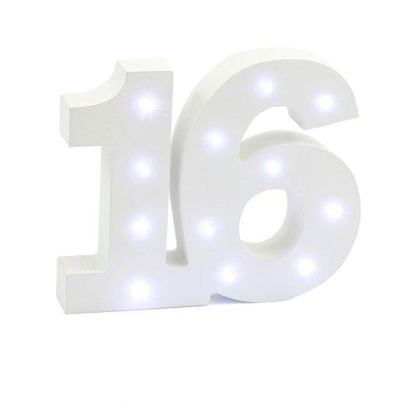 LED LIGHT UP NUMBER 16